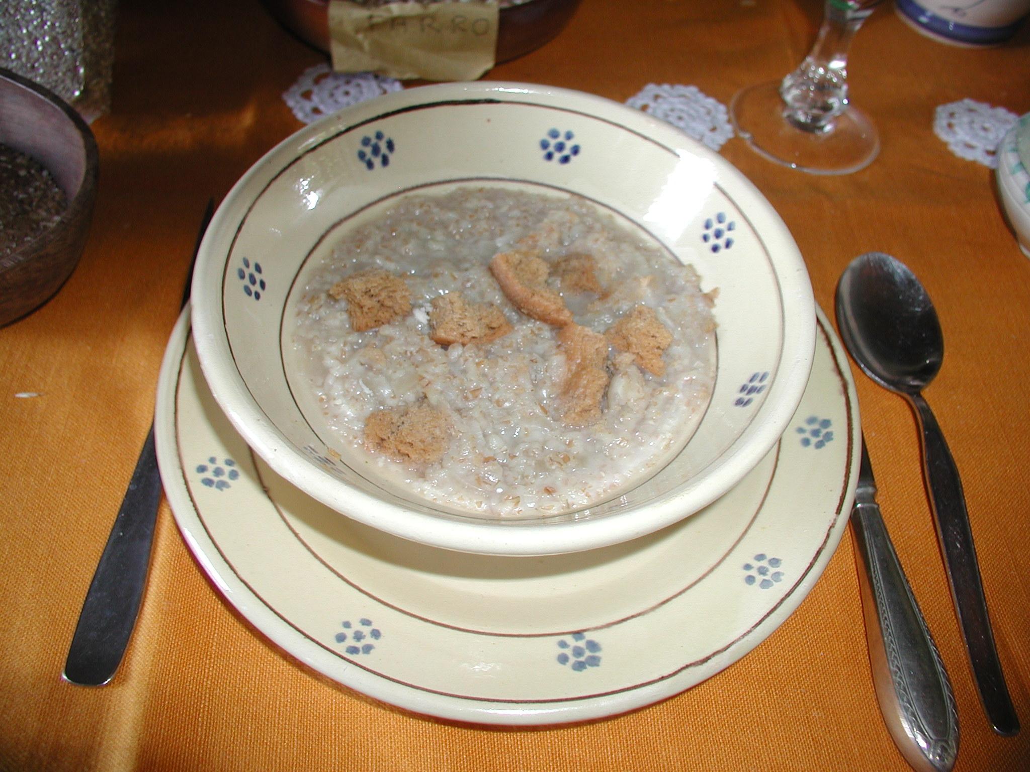 zuppa di saccarolo - azienda agricola Le Barbarighe