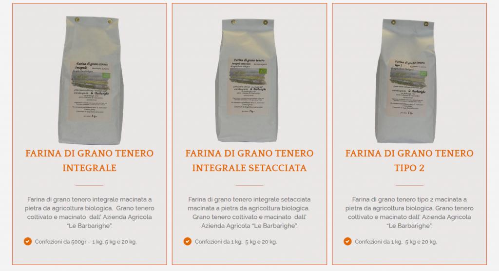 farina integrale azienda agricola le barbarighe san martino di venezze rovigo